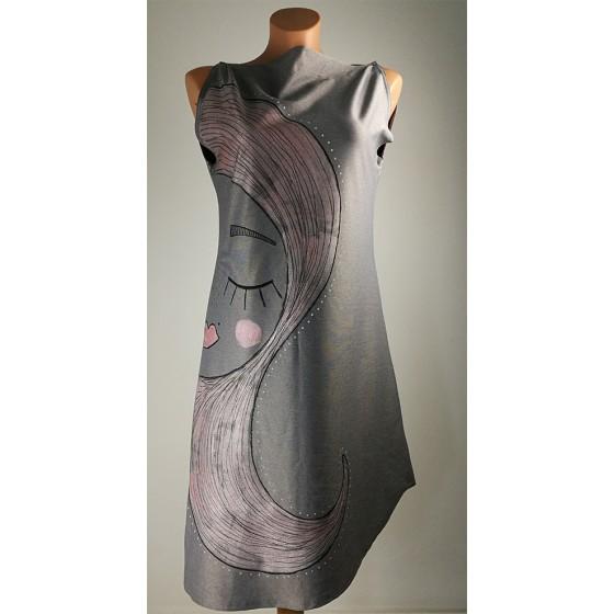 Obleka Milena - siva