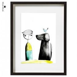 Art Print Mihec in kužek