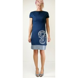 Obleka Olya - modra