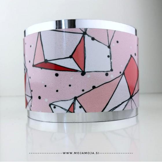 Široka zapestnica Pink pikice