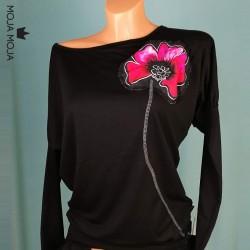 Long sleeved top Black Poppy