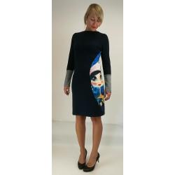 Obleka Snežna Palčica (modra)