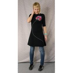 Dress Black Poppy 3/4 sleeves