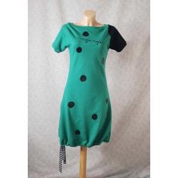 Obleka Pika modrozelena