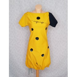 Dress Dot ocher yellow