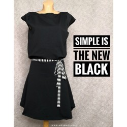 Obleka Črna Romana
