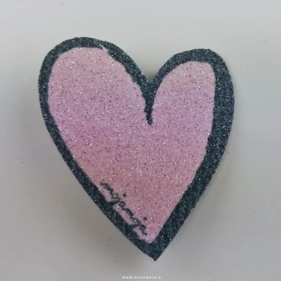 Shoe accessories Pink heart left