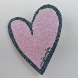 Shoe accessories Pink heart Right