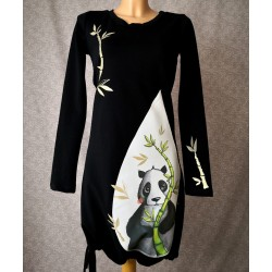 Obleka Panda črna
