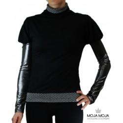 Majica Malina Črna-Srebrna