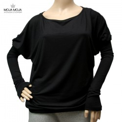 Simpl široka majica - črna