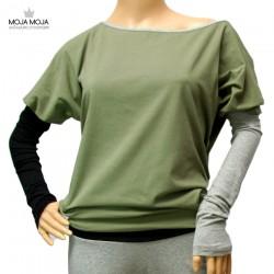 Simpl široka majica - khaki