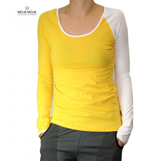 Simpl majica rumena bela