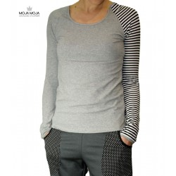 Simpl majica siva črtasta