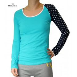 Simpl majica turkizna - pikasta