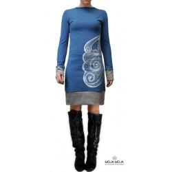 Obleka Martina - modra