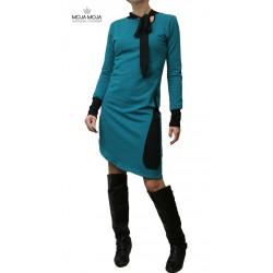 Obleka Magdalena - Petrol