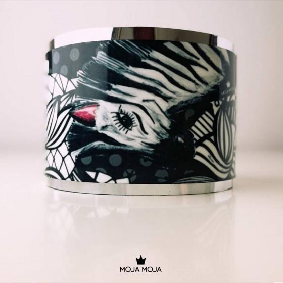 Široka zapestnica Zebra