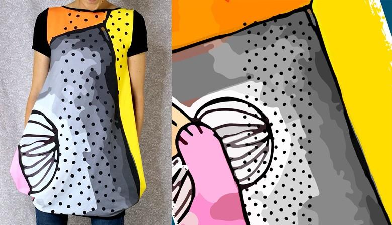Obleka Abstrakt