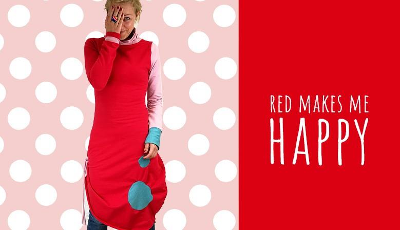 Obleka rdeča pika