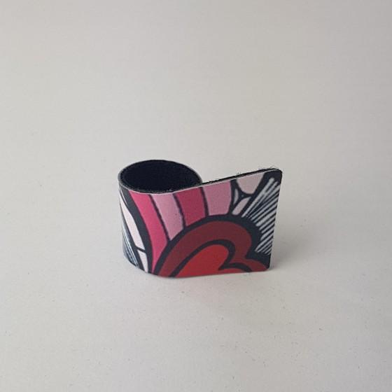 Prstan polžek Pink