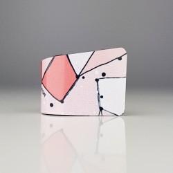 Prstan polžek Pink pikice