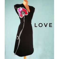 Dress Black Poppy