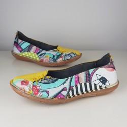 Modni čevlji Rumeni - prednaročila