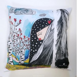 Pillow cover Heart of a giant Girl