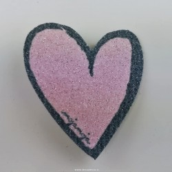 Shoe accessories Pink heart left