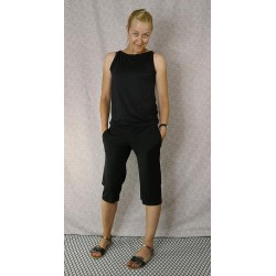 Pants 3/4 black with dots
