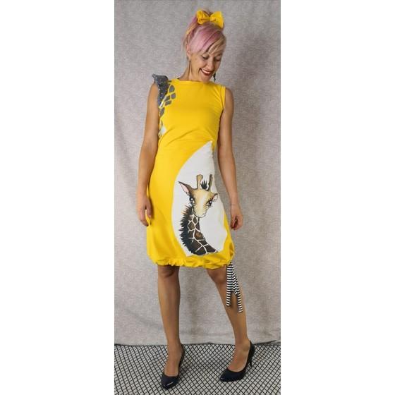 Obleka Žirafa rumena - prednaročila