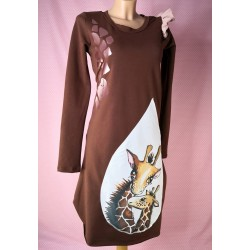 Dress Giraffe brown