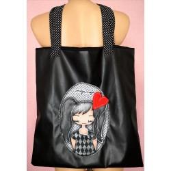 Črna torbica Sofija