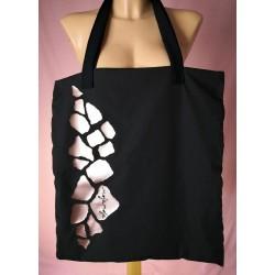 Črna torbica - Rose Gold žirafa