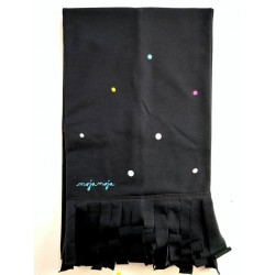Black scarf - Rainbow dots