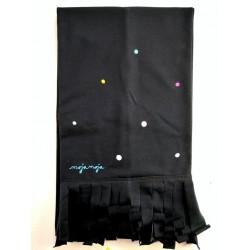 Črn šal - Mavrične pike