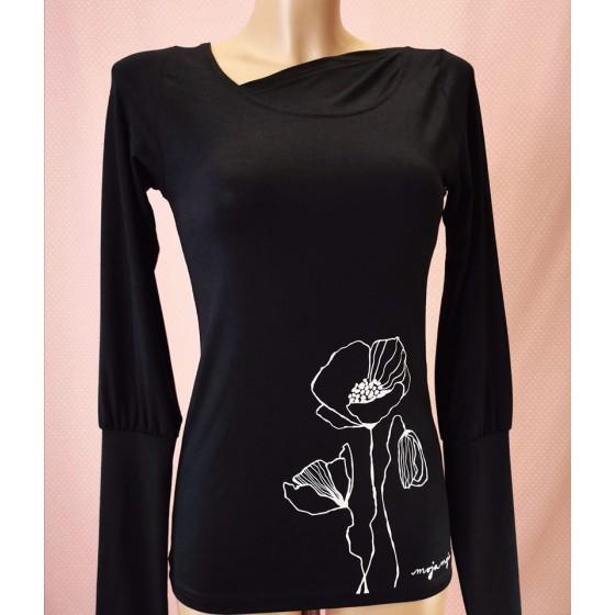 Black long sleeved top Poppy