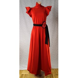 Obleka Rdeča metuljčica