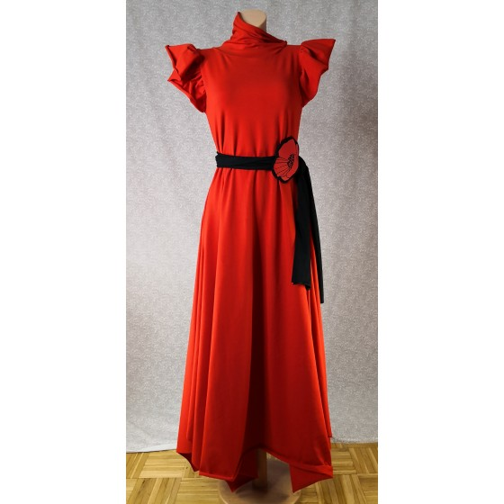 Dress Red butterfly