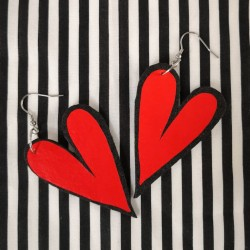 Hearted earrings