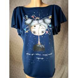 Modra metuljčkasta majica - Zaupaj Vesolju