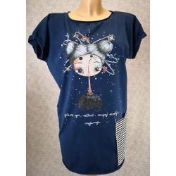 Prevelika majica Modra - Zaupaj vesolju