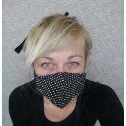 Bombažna protipljuvalna maska - pikasta