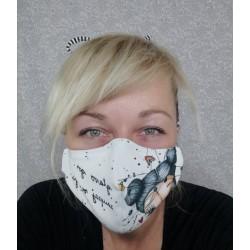 Bombažna maska - črna