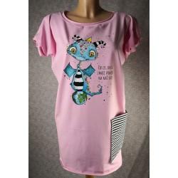 Prevelika majica Zmaj - roza