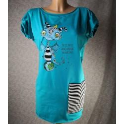 Prevelika majica Zmaj - turkizna