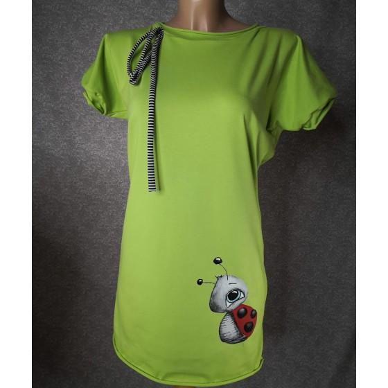 Prevelika majica zelena pikapolonica