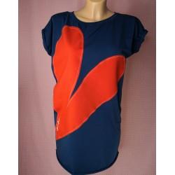 Prevelika majica Srček - modra