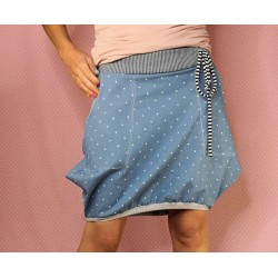 Jeans skirt with pockets